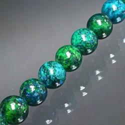 serpentine azurite chrysocolle collier