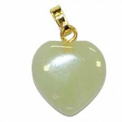 boucles d'oreilles en coeur jade clair new jade