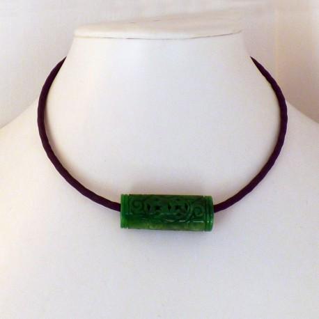 collier Lakhovsky jade