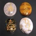 Pierres gravées aux 4 symboles du Reïki