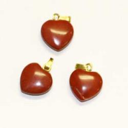 pendentif en coeur jaspe rouge
