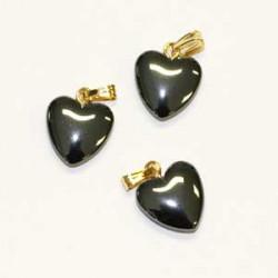 Pendentifs Coeur Hématite
