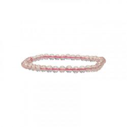 Bracelet Quartz rose boules
