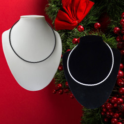 lakhovsky collier renforcé blanc et noir