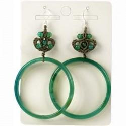 boucles d'oreilles agate verte