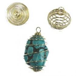 cage pendentif pour minéral